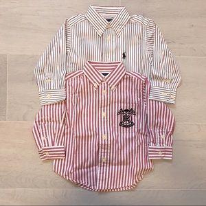 BRAND NEW Toddler 2 Ralph Lauren shirts 12M